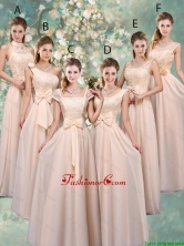 Luxurious Champagne Dama Dresses with Lace and Bowknot BMT045FOR