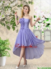 Pretty Strapless Chiffon Dama Dresses with High Low BMT056BFOR