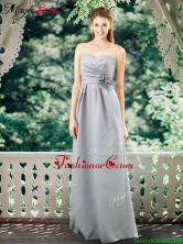 Romantic Empire Sweetheart Dama Dresses with Hand Made Flowers BMT070FOR