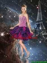 Sturning Sweetheart Beaded Dama Dresses in Multi Color for Cocktail QDDTA103003FOR