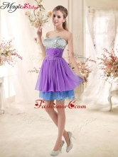 Top Selling Sweetheart Short Sequins Dama Dresses in Multi Color BMT002E-7FOR