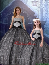 2015 Winter Classical Ball Gown Sweetheart Appliques Matching Sister  Dresses in Black QDZY231FXA-LGFOR