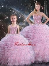 2016 Beautiful Macthing Sister Dresses with Beading and Ruffles QDDTA113002-LGFOR