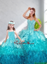 2016 Spring Beautiful Ball Gown Sweetheart Matching Sister Dresses in Multi Color QDDTA12002TZFX-LGFOR