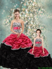 2016 Spring Perfect Strapless Zebra Matching Sister  Dresses in Multi Color QDZY434-2FX-LGFOR
