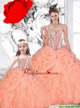 2016 Spring Popular Ball Gown Straps Beaded Matching Sister Dresses QDDTA116002-LGFOR