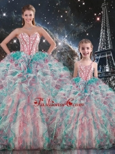 Fashionable Ball Gown Macthing Sister Dresses with Beading and Ruffles  QDDTA91002-LGFOR