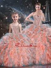 Gorgeous Ball Gown Macthing Sister Dresses with Beading and Ruffles for Fall  QDDTA99002-LGFOR