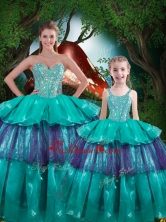Hot Sale Ball Gown Macthing Sister Dresses with Ruffled Layers QDDTA82002-LGFOR