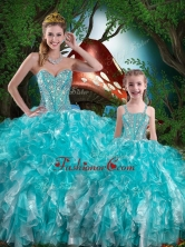 Hot Sale Sweetheart Macthing Sister Dresses with Beading and Ruffles for Summer QDDTA79002-LGFOR