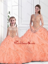 Inexpensive Scoop Macthing Sister Dresses with Beading  for Fall SJQDDT109002-LGFOR