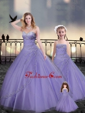 Lavender Macthing Sister Dresses in Tulle with Beading and Appliques XFQD963-15-LGFOR