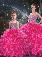 Luxurious Beading Macthing Sister Dresses in Hot Pink QDDTA100002-LGFOR