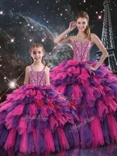 New Style Ball Gown Macthing Sister Dresses with Beading and Ruffled Layers for Fall  QDDTA103002-LGFOR