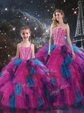 New Style Sweetheart Beading Macthing Sister Dresses in Multi Color QDDTA106002-LGFOR