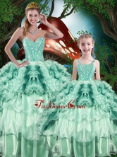 Pretty Ball Gown Macthing Sister Dress with Beading and Ruffles for 2016  QDDTA81002-1-LGFOR