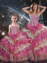 Wonderful Sweetheart Ruffled Layers Macthing Sister Dresses for Fall  QDDTA114002-LGFOR