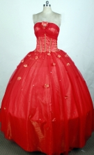 2012 Elegant Ball Gown Strapless Floor-Length Quinceanera Dresses Style JP42669