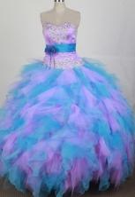 2012 Exquisite Ball Gown Sweetheart Neck Floor-Length Quinceanera Dresses Style JP42645