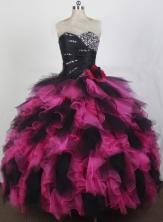 2012 Exquisite Ball Gown Sweetheart Neck Floor-Length Quinceanera Dresses Style JP42646