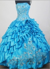 2012 Unique Ball Gown Strapless Floor-Length Quinceanera Dresses Style JP42638