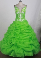 2012 Unique Ball Gown Sweetheart Straps Floor-Length Quinceanera Dresses Style JP42673