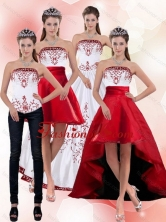 2015 Best Beautiful Strapless Quinceanera Dress with Embroidery PDZY535TZA2FOR