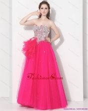 2015 Best Hot Pink Sweet Sixteen Dresses with Rhinestones WMDQD018FOR