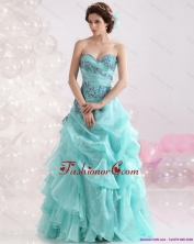 2015 Best Sweetheart Floor Length Quinceanera Dresses with Appliques WMDQD004FOR