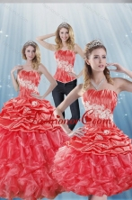 2015 Gorgeous Watermelon Red Quinceanera Dresses with Appliques and Ruffles XFNAOA43TZA1FOR