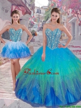 2016 Summer Cheap Ball Gown Detachable Quinceanera Dresses in Multi Color QDDTA83001FOR
