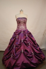 Affordable Ball gown Strapless Floor-length Quinceanera Dresses Style FA-W-193