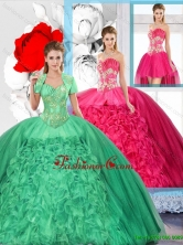 Beaded and Ruffles Inexpensive Detachable Quinceanera Dresses SJQDDT125001-1FOR