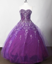 Beautiful Ball Gown Strapless Floor-length Purple Quinceanera Dress LJ2631