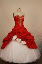 Beautiful Ball gown Sweetheart-neck Floor-length Quinceanera Dresses Style FA-W-040