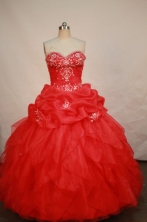 Beautiful Ball gown Sweetheart-neck Floor-length Quinceanera Dresses Style FA-W-180