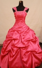 Beautiful ball gown cap sleeves strapless floor-length quinceanera dresse Style X042454