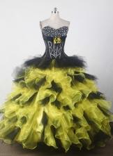 Beauty Ball Gown Sweetheart Floor-length Quincenera Dresses TD260016