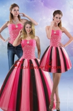 Best 2015 Feminine Beading Quince Dresses in Multi Color XFNAO5884TZA1FOR