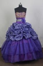 Best Ball Gown Strapless Floor-length Quinceanera Dress ZQ12426083