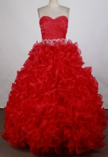 Best Ball gown Sweetheart-neck   Floor-length Quinceanera Dresses Style FA-W-r34