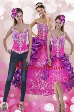 Best Beautiful Pick Ups and Embroidery Multi Color 2015 Quinceanera Dresses with Sweep Train XFNAOA53TZA1FOR
