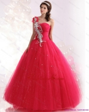 Best One Shoulder Dresses for a Quinceanera with Beading for 2015 WMDQD020FOR