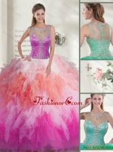 Best Scoop 2016 Spring Quinceanera Gowns in Multi Color SJQDDT117002A-1FOR