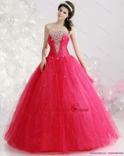 Best Strapless 2015 Quinceanera Gowns with Rhinestones WMDQD014FOR