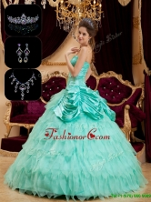 Best Strapless Quinceanera Gowns with Pick Ups and Ruffles  QDZY005EFOR