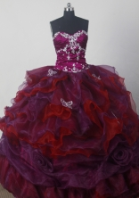 Cheap A-line Strapless Floor-length Organza Colorful Quinceanera Dress Style X042603