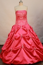 Cheap Ball gown Strapless Floor-length Quinceanera Dresses Style FA-W-168