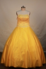 Cute Ball gown Strapless Floor-length Quinceanera Dresses Style FA-W-012