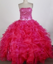 Exquisite Ball Gown Strapless Floor-length Quinceanera Dress ZQ12426012